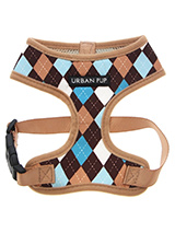 Brown & Blue Argyle Harness - Our Brown and Blue checked Argyle Harness is a traditional Scottish design which represents the Clan Campbell of Argyll in western Scotland. It is stylish, classy and never goes out of fashion. Used for kilts and plaids, and for the patterned socks worn by Scottish Highlanders since at least the 17t...